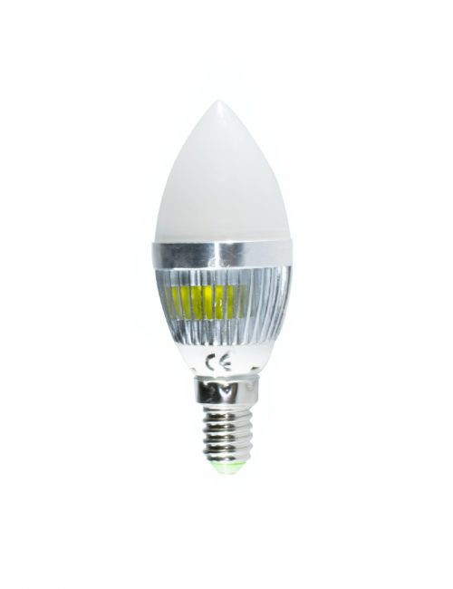 Frosted LED Candle Bulb E14 3W Warm White Daylight Nature 3 Watts Cool