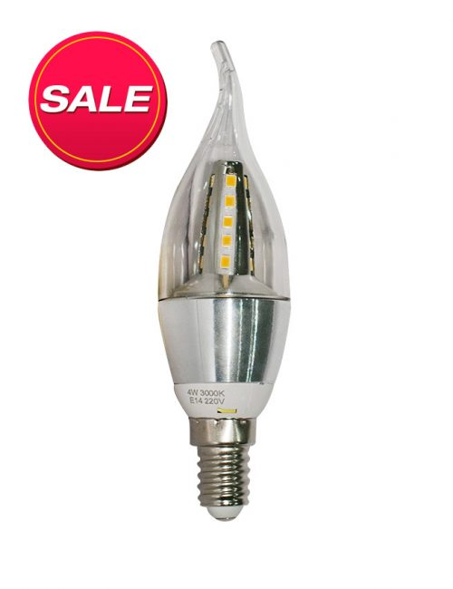 LED Candle Bulb E14 4W Warm White Watts 4 Aluminum Light Philippines