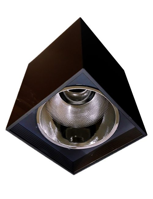 LED Housing and Fixtures Philippines Bulb E27 Black Square Surface Mounted