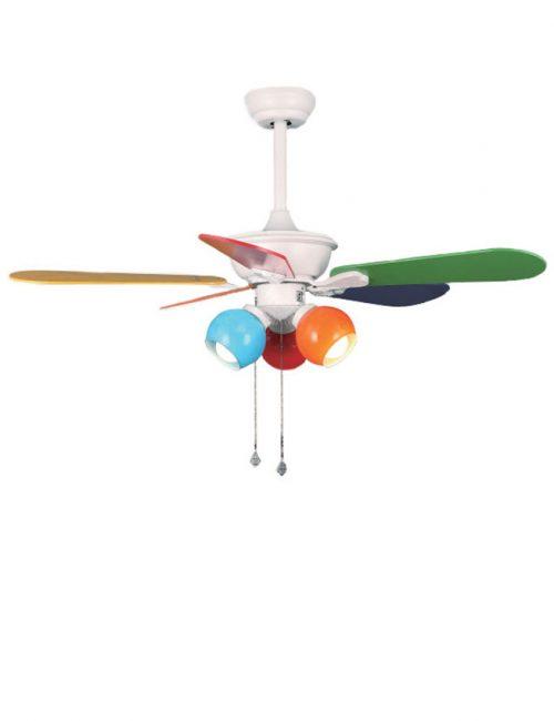 Multi-color Ceiling Fan Fixture for Kids