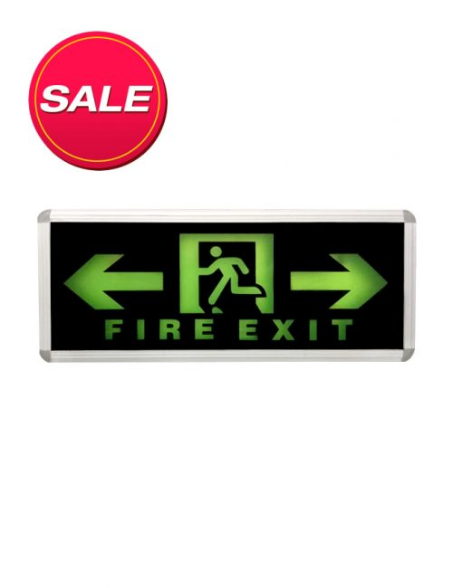 LED Single Face Black left and right Fire Exit Philippines