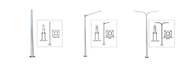 Street Light Lamp Post Steel Pole >